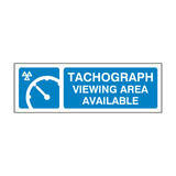 MOT Tachograph Viewing Area Available Sign
