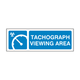 MOT Tachograph Viewing Area Sign