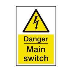 Main Switch Sign | PVC Safety Signs | Health and Safety Signs
