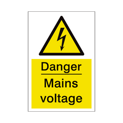 Mains Voltage Sign | PVC Safety Signs | Health and Safety Signs