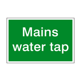 Mains Water Tap Sign | PVCSafetySigns.co.uk