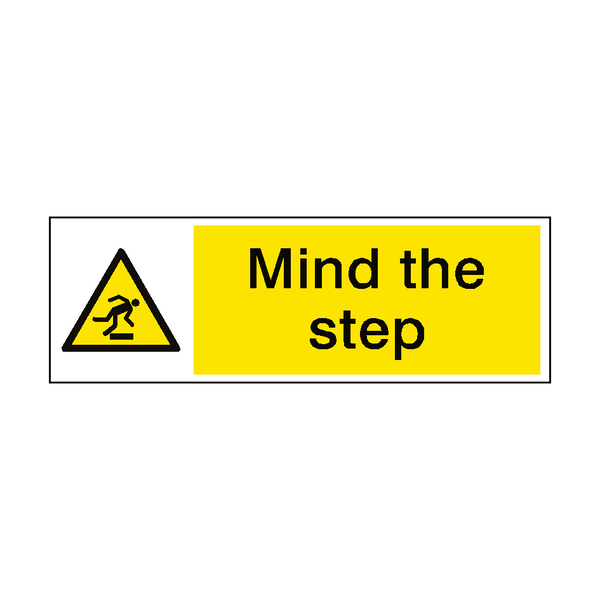 Mind The Step Safety Sign | PVCSafetySigns.co.uk