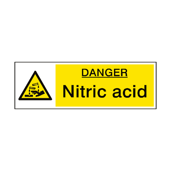 Nitric Acid Hazard Sign - PVC Safety Signs