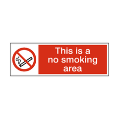 No Smoking Area Sign | PVC Safety Signs | Health and Safety Signs