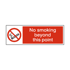 No Smoking Beyond This Point Landscape Sign | PVC Safety Signs | Health and Safety Signs