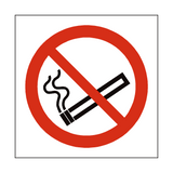 No Smoking Square Safety Sign - PVC Safety Signs