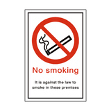 No Smoking Premises Sign | PVCSafetySigns.co.uk