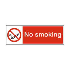 No Smoking Safety Sign | PVC Safety Signs | Health and Safety Signs