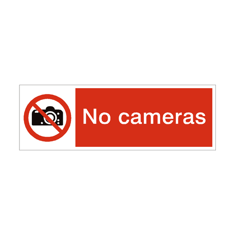 No Cameras Safety Sign | PVC Safety Signs | Health and Safety Signs