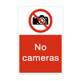 No Cameras Sign | PVCSafetySigns.co.uk