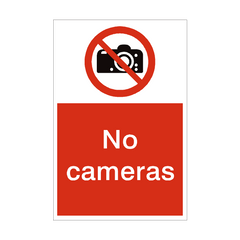 No Cameras Sign | PVC Safety Signs | Health and Safety Signs