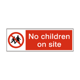 No Children On Site Safety Sign | PVCSafetySigns.co.uk