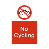 No Cycling Sign | PVCSafetySigns.co.uk