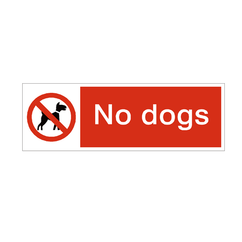 No Dogs Safety Sign | PVC Safety Signs | Health and Safety Signs