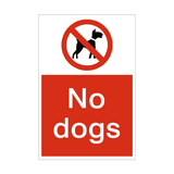 No Dogs Sign | PVCSafetySigns.co.uk