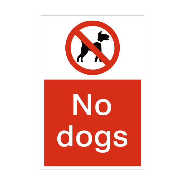 No Dogs Sign | PVC Safety Signs