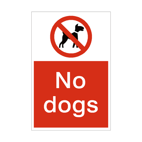 No Dogs Sign | PVC Safety Signs | Health and Safety Signs