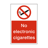 No Electronic Cigarettes Sign - PVC Safety Signs
