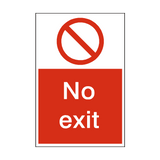 No Exit Sign | PVCSafetySigns.co.uk