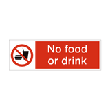 No Food or Drink Safety Sign | PVCSafetySigns.co.uk