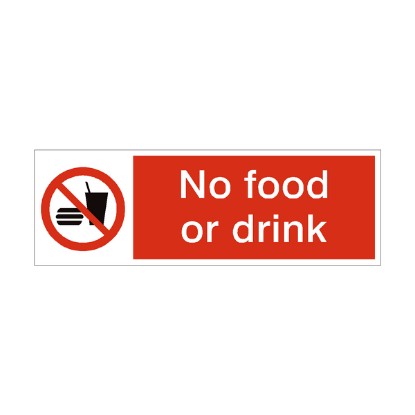 No Food or Drink Safety Sign | PVC Safety Signs