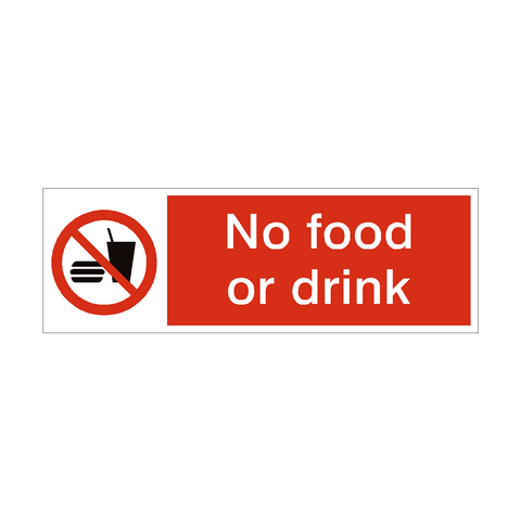 No Food or Drink Safety Sign | PVC Safety Signs | Health and Safety Signs