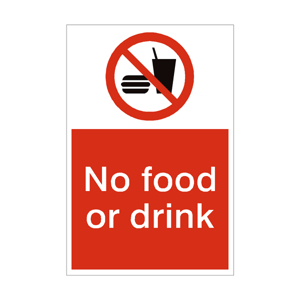 No Food or Drink Sign | PVC Safety Signs