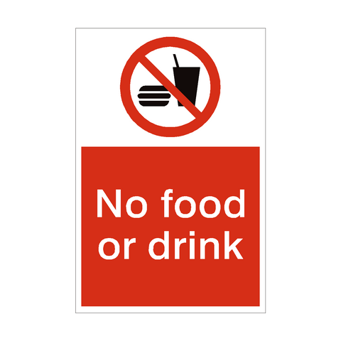 No Food or Drink Sign | PVC Safety Signs | Health and Safety Signs