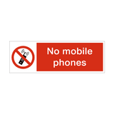 No Mobile Phones Prohibition Safety Sign | PVCSafetySigns.co.uk