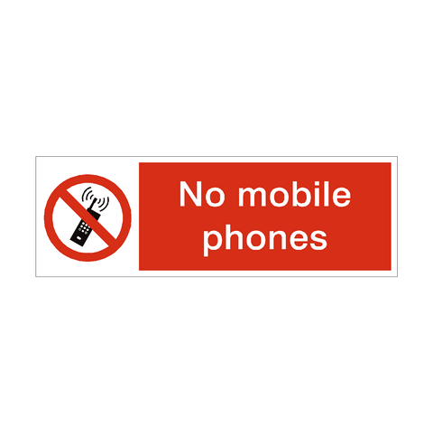 No Mobile Phones Prohibition Safety Sign | PVC Safety Signs | Health and Safety Signs