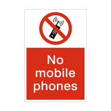 No Mobile Phones Prohibition Sign | PVCSafetySigns.co.uk