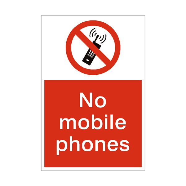No Mobile Phones Prohibition Sign | PVC Safety Signs
