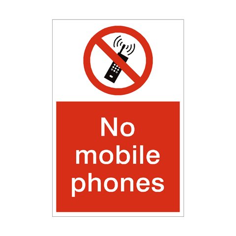 No Mobile Phones Prohibition Sign | PVC Safety Signs | Health and Safety Signs