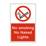 No Smoking No Naked Lights Sign