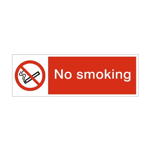 No Smoking Prohibition Safety Sign | PVC Safety Signs
