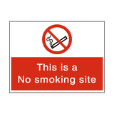 No Smoking Site Sign - PVC Safety Signs
