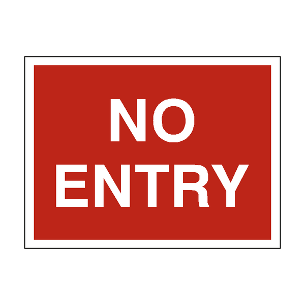 No Entry Traffic Sign | PVC Safety Signs