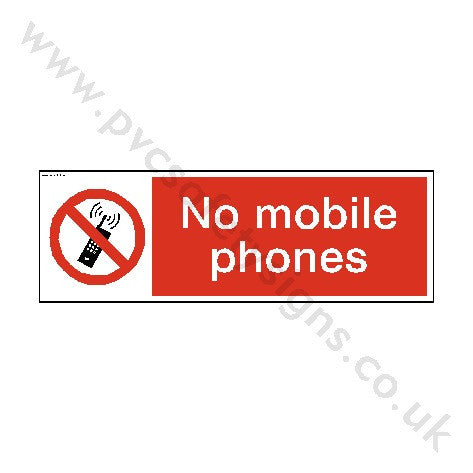 No Mobile Phones Safety Sign - PVC Safety Signs