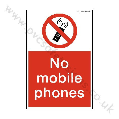 No Mobile Phones Sign | PVC Safety Signs