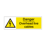 Overhead Cables Safety Sign | PVCSafetySigns.co.uk