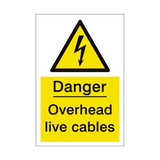 Overhead Cables Sign | PVCSafetySigns.co.uk