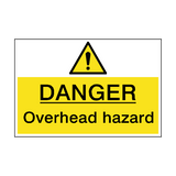 Danger Overhead Hazard Sign | PVCSafetySigns.co.uk