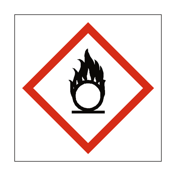 Oxidising COSHH Sign | PVCSafetySigns.co.uk