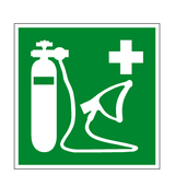 Oxygen Resuscitator Symbol Sign - PVC Safety Signs