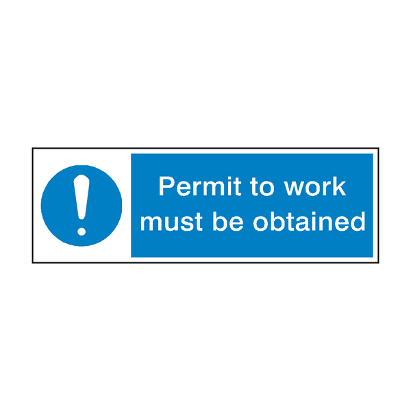Work Permit Sign - PVC Safety Signs