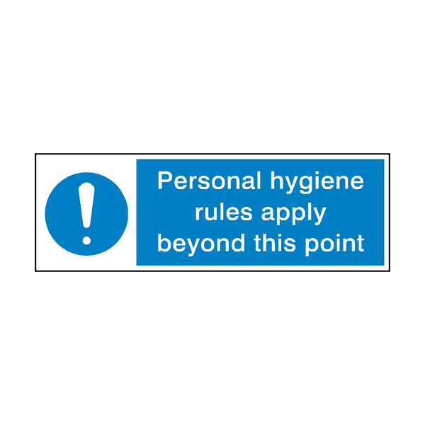 Personal Hygiene Rules Point Sign - PVC Safety Signs