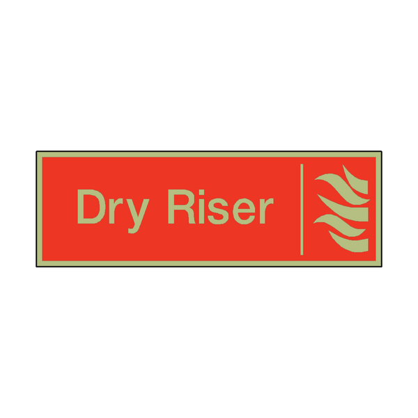 Photoluminescent Dry Riser Safety Sign | PVC Safety Signs