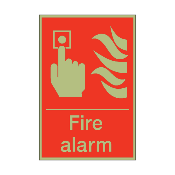 Photoluminescent Fire Alarm Sign | PVC Safety Signs