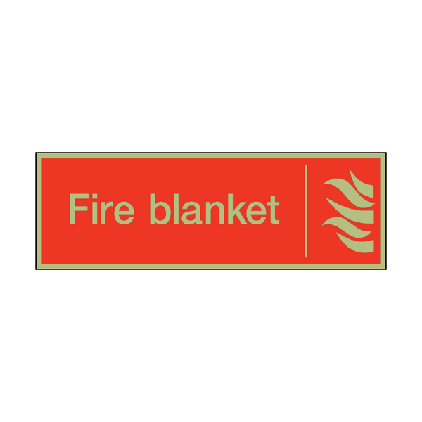 Photoluminescent Fire Blanket Safety Sign - PVC Safety Signs