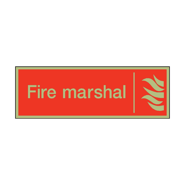 Photoluminescent Fire Marshal Safety Sign - PVC Safety Signs